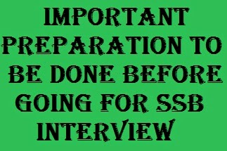 SSB interview preparation first chapter.