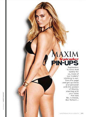 Bar Refaeli goes topless in Maxim september 2012
