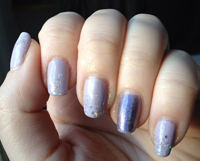 Purple holographic manicure