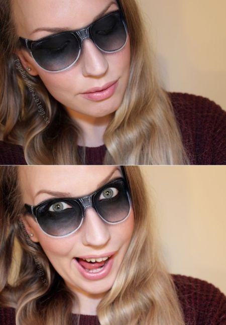 Sandra Holmbom auto-maquiagens criativas e bizarras Óculos de sol