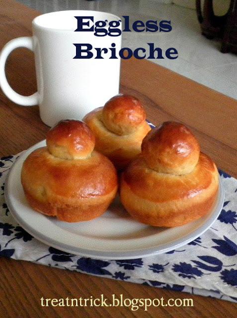 Eggless Brioche Recipe @ http://treatntrick.blogspot.com