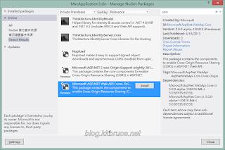 安裝Microsoft.AspNet.WebApi.Cors套件