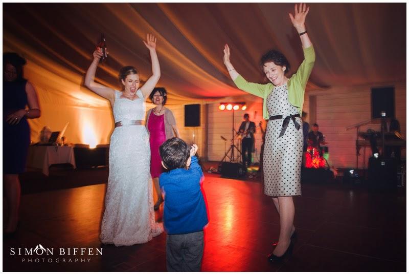 Bride dancing at Newton House wedding