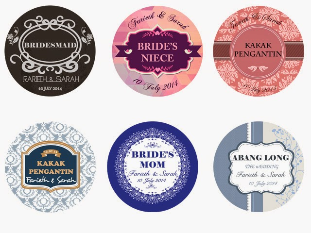 Sticker For Wedding Door Gift : button badge for wedding kahwin
