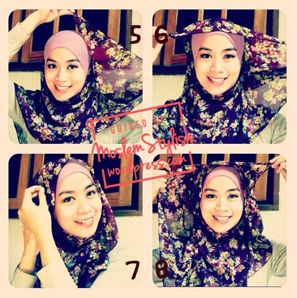 Cara Memakai Hijab Simple Segi Empat