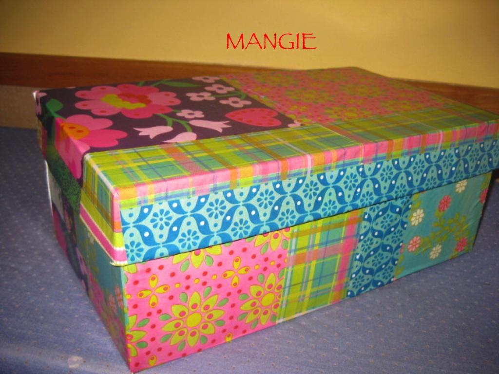 Caja de zapatos decorada artemangie - Decoracion de cajas ...
