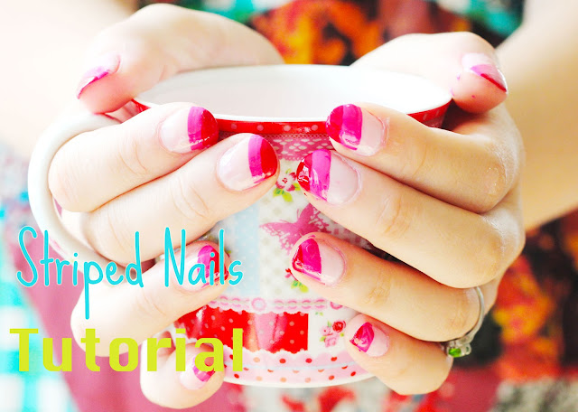 striped nails tutorial