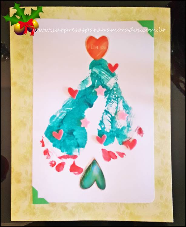 cartão de natal para crianças