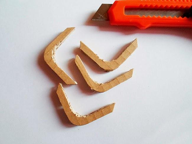 Topes cortados con el cúter