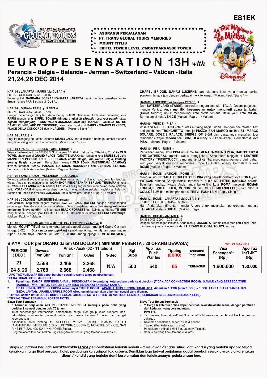EUROPE SENSATION