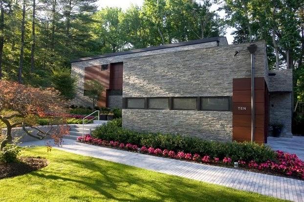 Fachadas de piedra fachadas de piedra natural for Fachadas de casas modernas con piedra