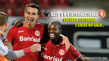 Atlético-MG sofre goleada do Internacional em plena Arena do Jacaré em Minas Gerais