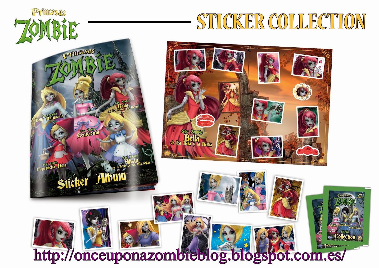 Once Upon a zombi//sticker álbum//en blanco del álbum//giromax