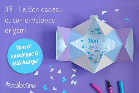 diy by calibotine 8 le bon cadeau et son envelopppe origami. Black Bedroom Furniture Sets. Home Design Ideas