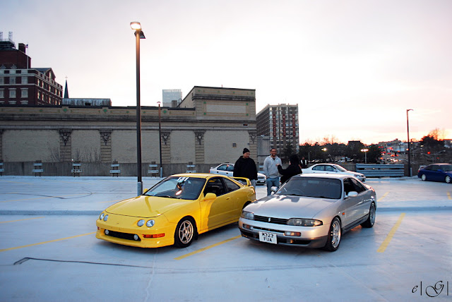 Honda Integra DC2 & Nissan Skyline R33 japoński sportowy samochód coupe VTEC