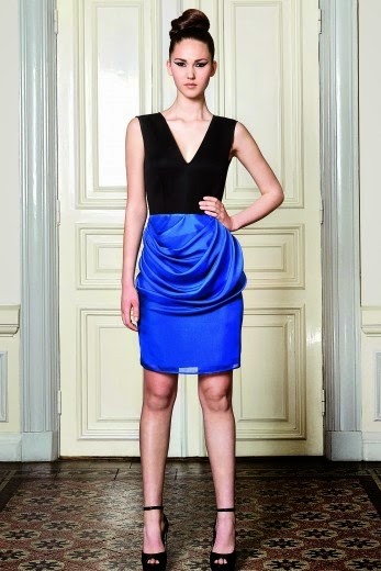 draped skirt, blue draped skirt, draped dress, draping