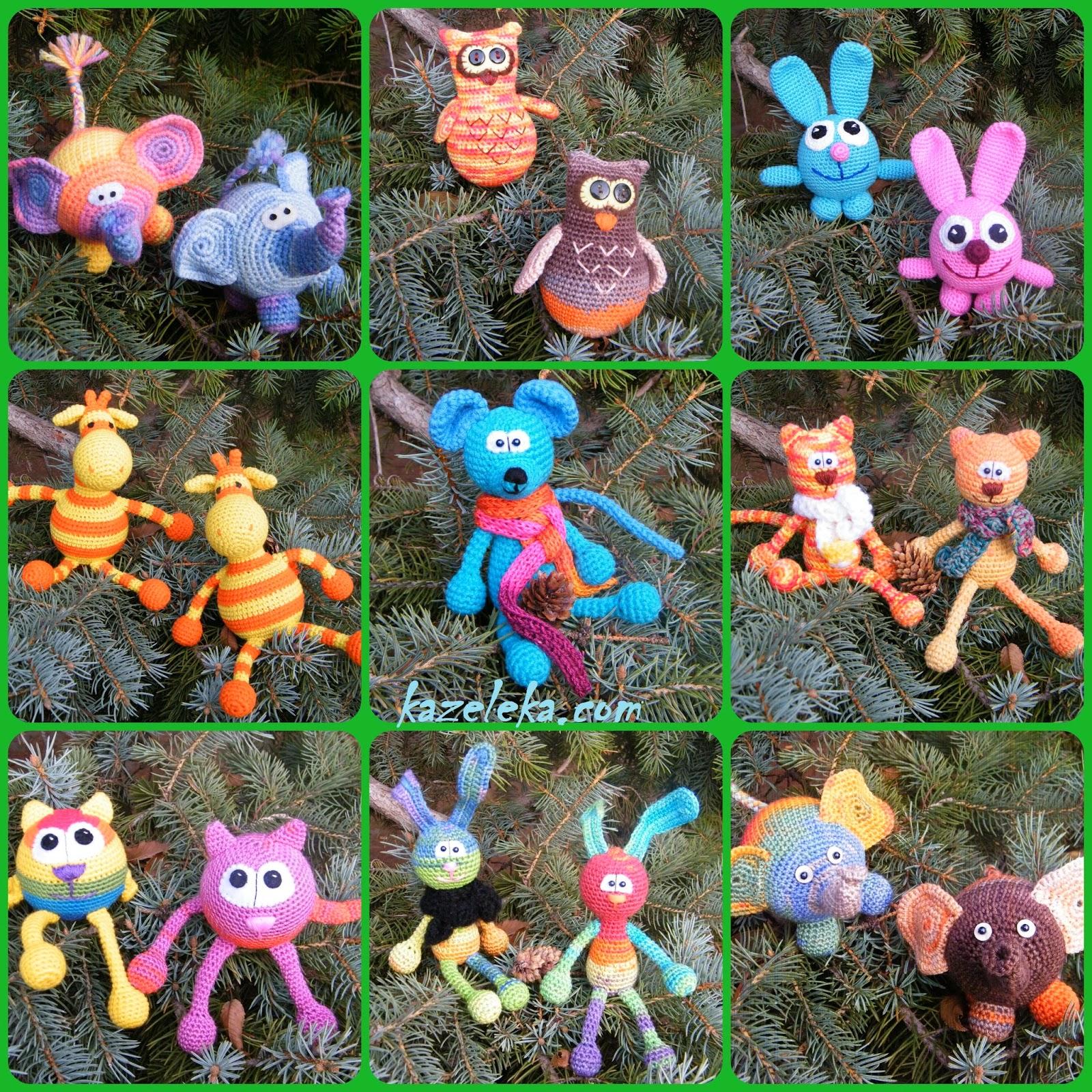 crochet toys - amigurumi- вязаные звери