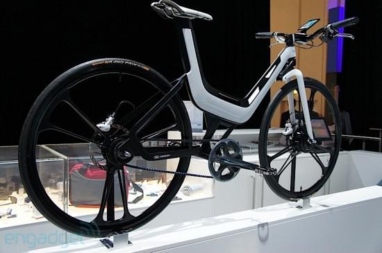 Ford E Bike Packs A Galaxy S Ii On The Bars Motor In The Wheel