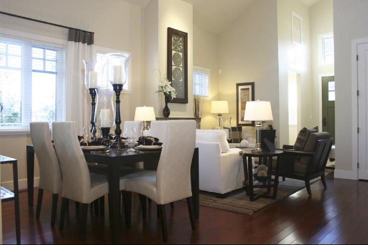Our Beloved DINING ROOM Furniture Dictated The Classic Design Plan For The  Open Living Area In Our Home.