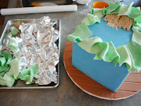how to make a baby butt baby shower gift box cake