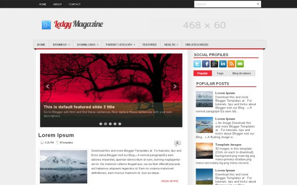 Free Grunge Magazine News Jquery Blogger Template