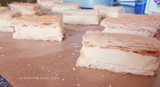 mini vanilla custard slices recipe   Halal Home Cooking