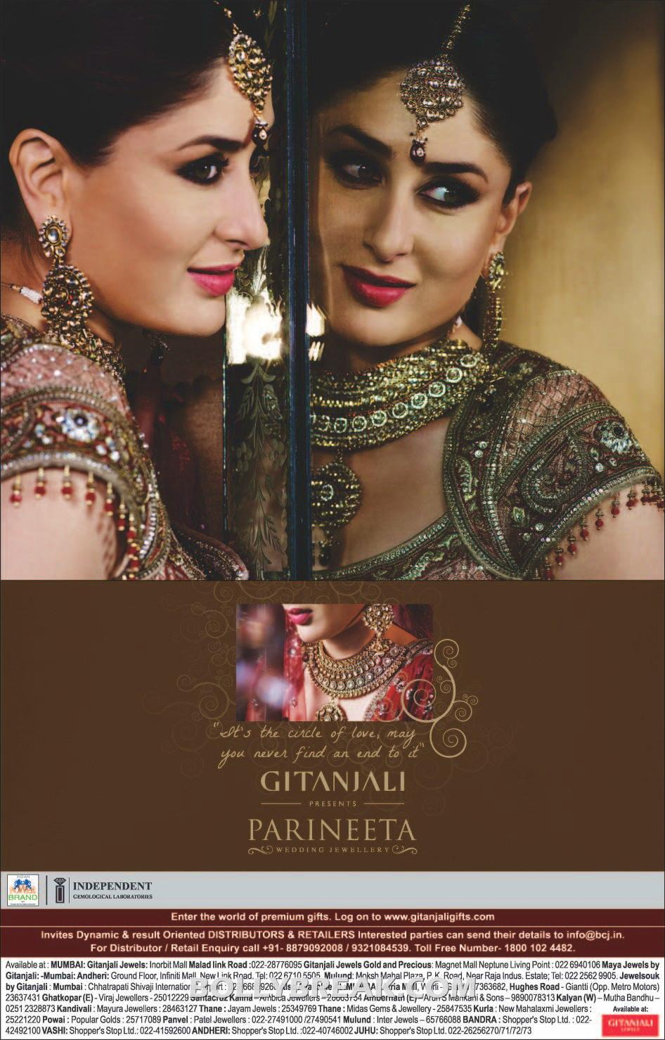 Kareena kapoor Parineeta Wedding Jewellery print ad - Kareena kapoor Parineeta Wedding Jewellery