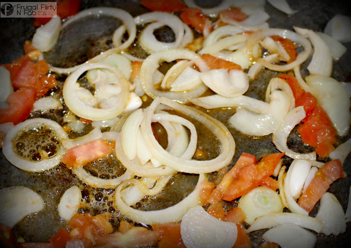 How Onions and Tomatoes are needed when making Sauteed Salmon