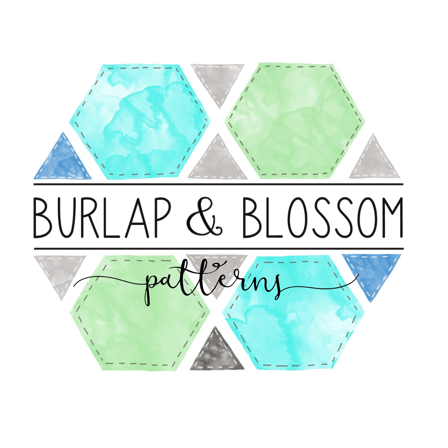 Burlap and Blossom Patterns
