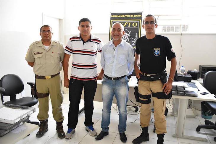Serrinha:Secretário Edvaldo Teixeira visita novas instalações da Ceto (PM)