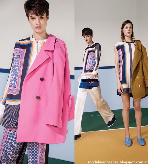 Moda otoño invierno 2014 bloques de color por la diseñadora María Cher.