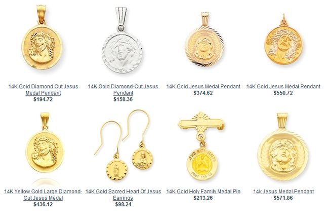 Jesus Jewelry at PatronSaintMedallions.Com