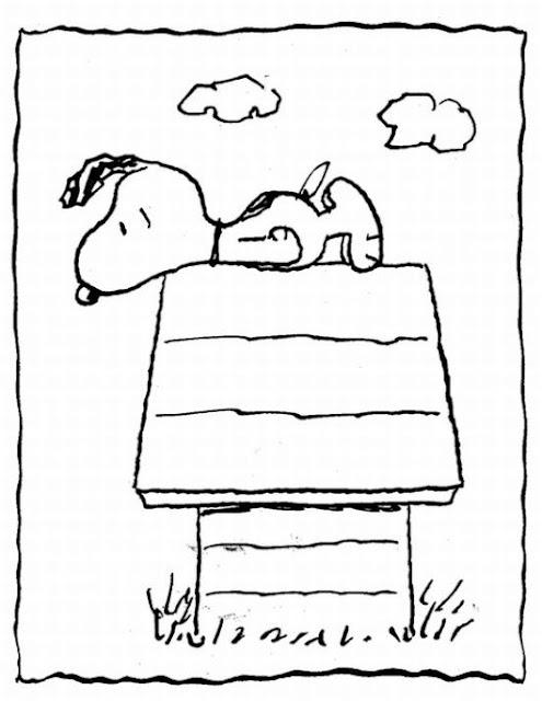 Snoopy fazendo Planking