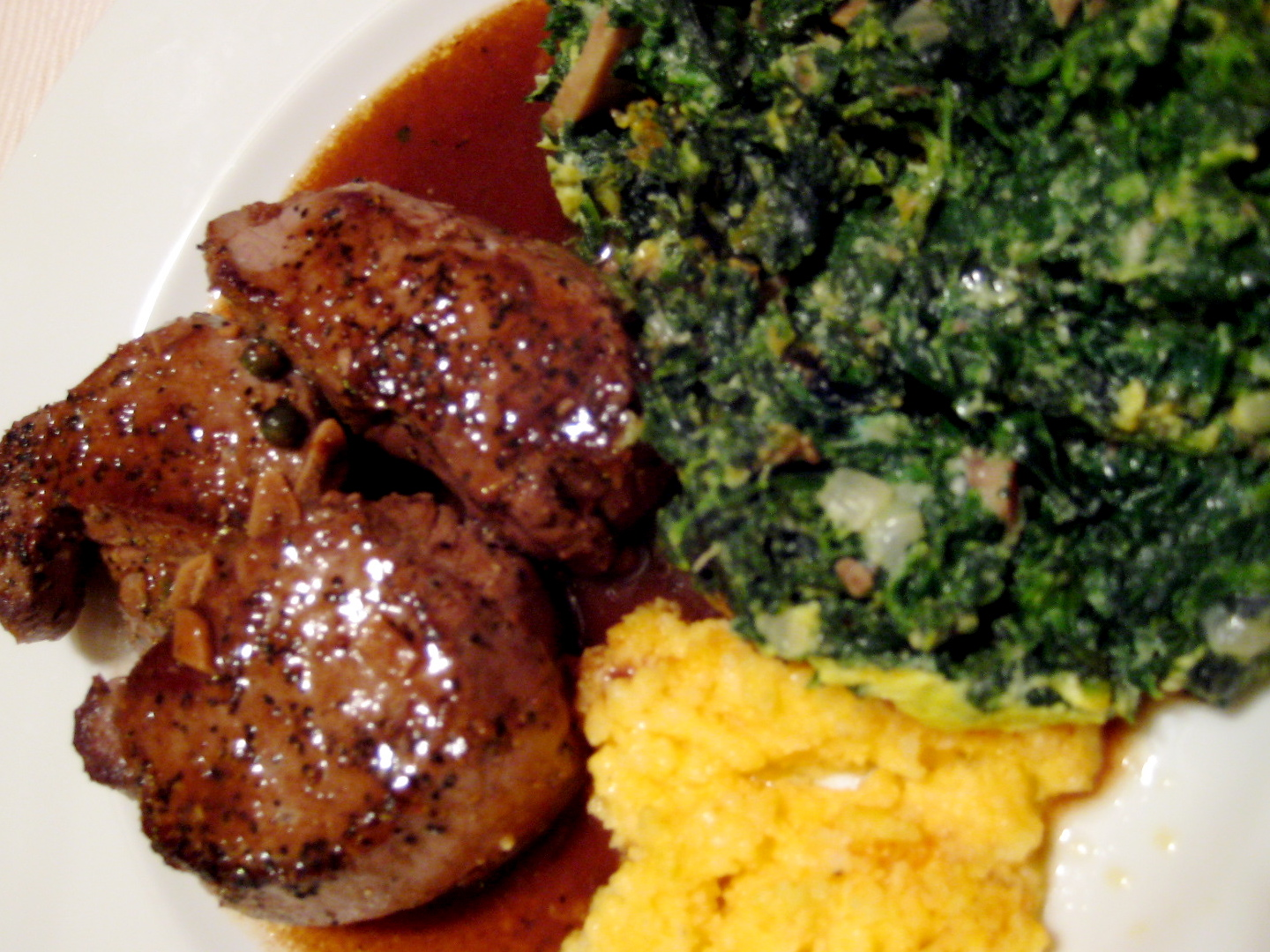 ... food & hospitality: venison tenderloin with whiskey and wine sauce