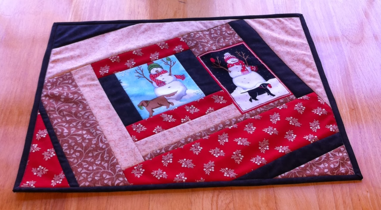 My Useless Crafts And Such Quilt As You Go Placemats