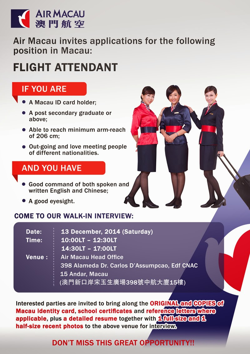 fly gosh air macau cabin crew recruitment walk in interview fly gosh air macau cabin crew recruitment walk in interview taiwan macau