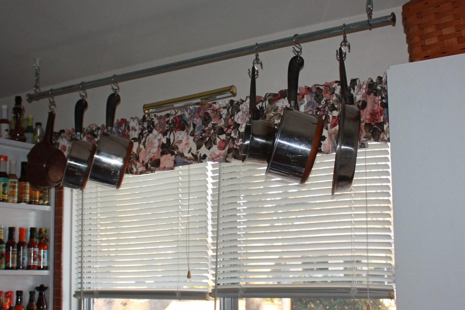not all write diy hanging pot rack