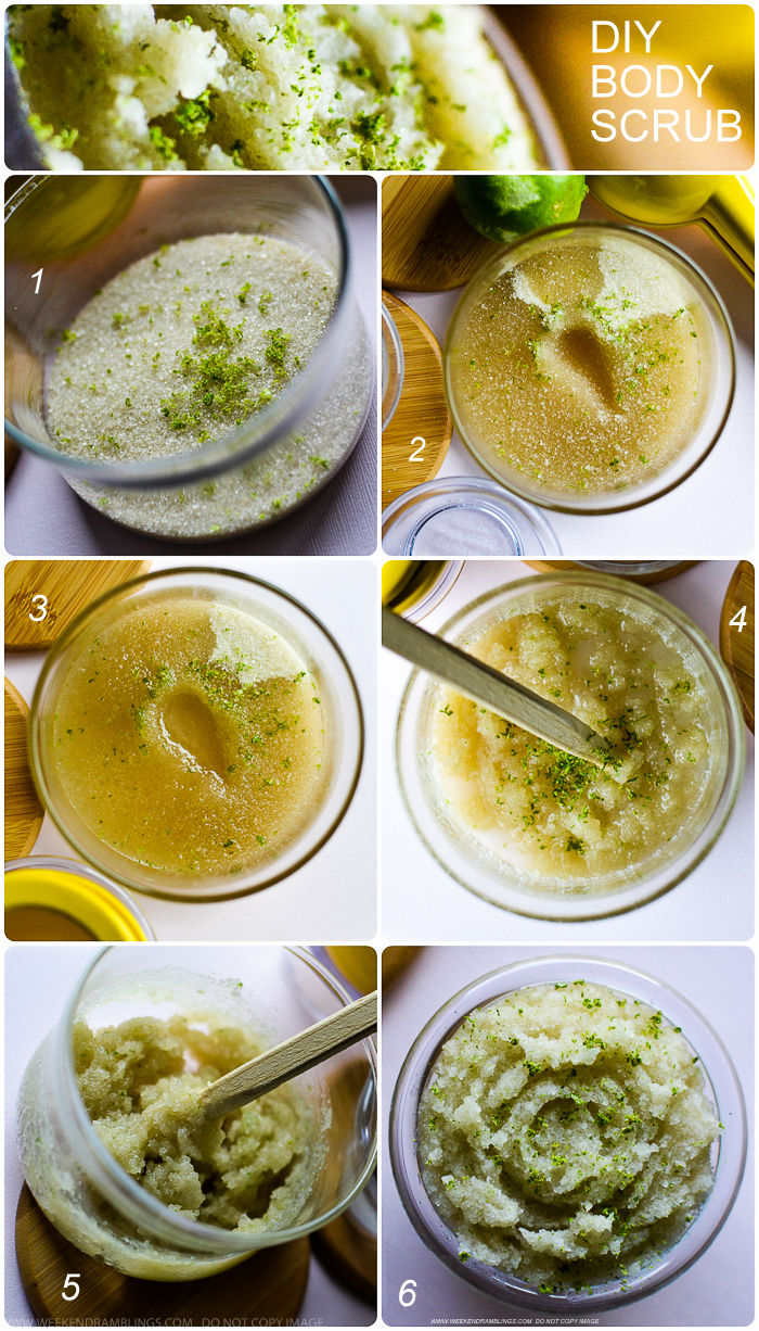 Easy DIY Home Made Sugar Coconut Oil Lime Body Hand Foot Scrub - How to Make
