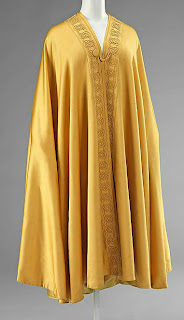 front view of opera cloak