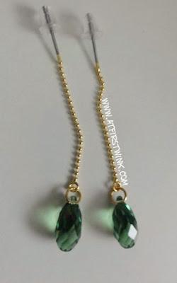 handmade swarovski earrings emerald green