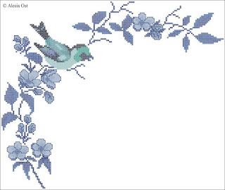 Free cross-stitch patterns, floral, oriental, Chinese, flower, bird, cross-stitch, back stitch, cross-stitch scheme, free pattern, x-stitchmagic.blogspot.it, вышивка крестиком, бесплатная схема, punto croce, schemi punto croce gratis, DMC, blocks, symbols