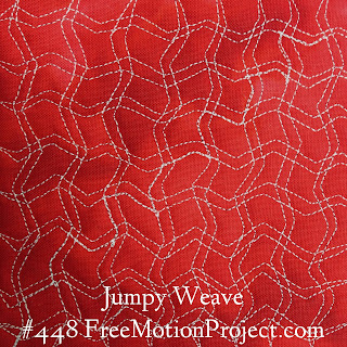 Free Motion Quilting Project Design Jumpy Weave