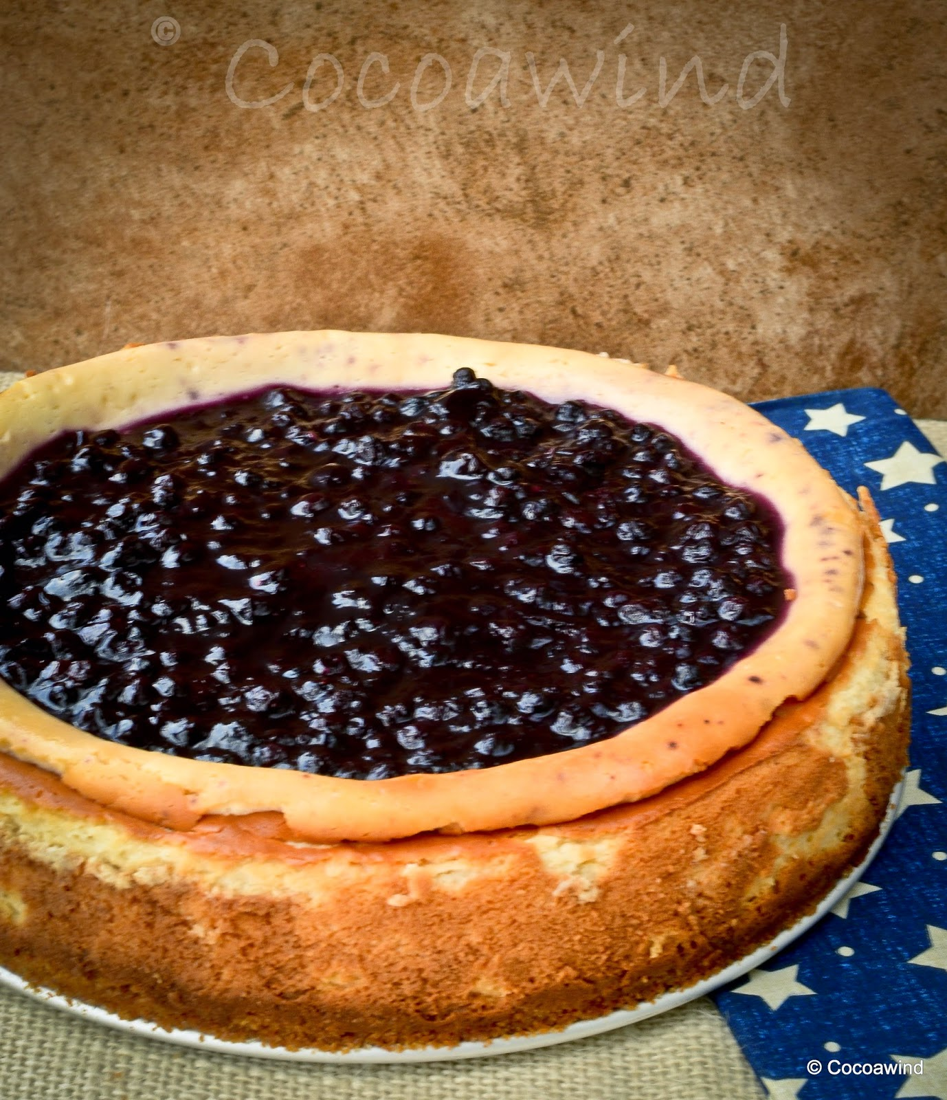 Blueberry Cheesecake with Blueberry Compote Topping