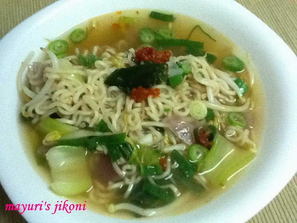 Pak Choi Noodles Pak Choi Bean Sprout And