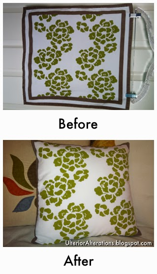 napkin to pillow upcycle