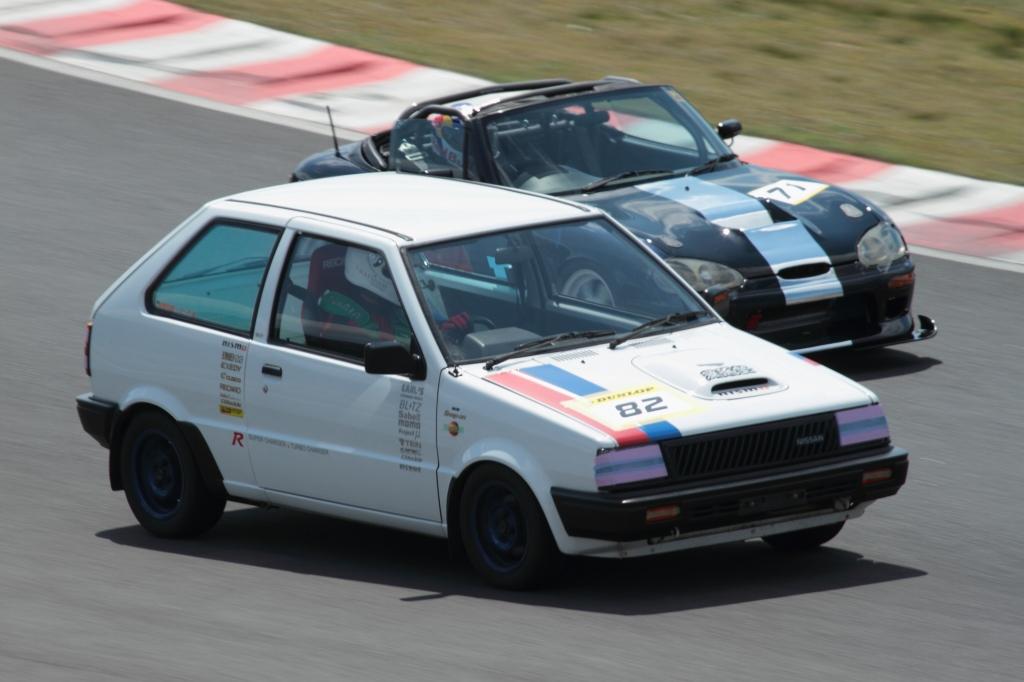 Nissan March Super Turbo R, podwójnie doładowany, turbo & compressor, Suzuki Cappuccino 3-cylindry, wyścigi, kei car, ciekawe samochody, unikalne, スポーツカー、チューニングカー、自動車競技