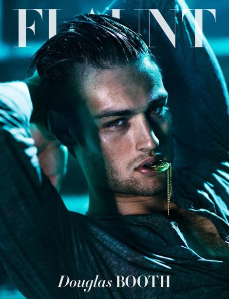 Douglas Booth on the cover of Flaunt Magazine No.129