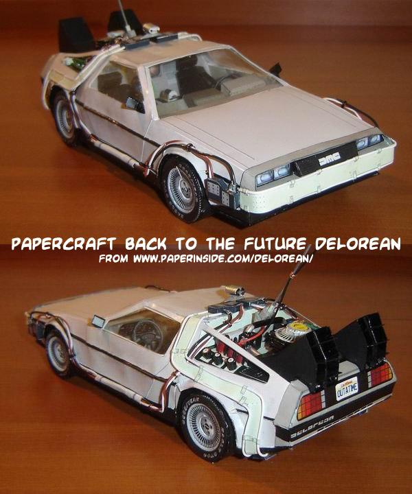 Ninjatoes papercraft weblog papercraft quot back to the future quot delorean
