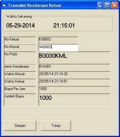 Download Aplikasi Parkir Motor Mobil Dengan VB 6.0