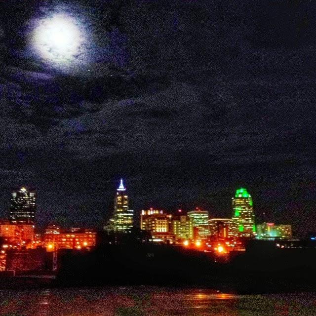 Raleigh City Skyline at Christmas